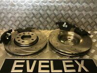 DRILLED & GROOVED FRONT DISCS & PADS SAAB 93 OPEL VAUXHALL SIGNUM VECTRA  302MM