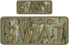 T.P.S.O. S.W.A.T.EMBROIDERY PATCH 4X10 & 2X5 HOOK ON BACK  MULTIC/BROWN