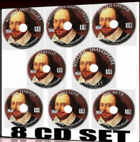 CLASSIC WILLIAM SHAKESPEARE MP3 AUDIOBOOKS 8CD SET DRAMATISED Romances Tragedies