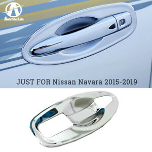 For Nissan Frontier/NP300 2015-2019 Exterior Chrome Door Bowl Handle Cover Trim