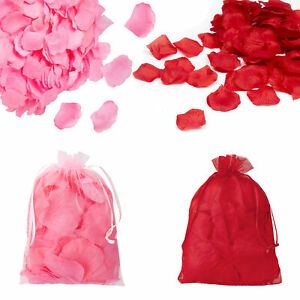 Valentine's Day 160 Piece Decorative Rose Petals in Organza Bag