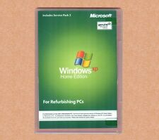 SEALED Microsoft Windows XP Home Edition SP3 w RFB Disc, COA and CD Product Key