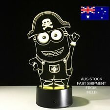 3D LIGHT MINIONS 7 COLOUR CHANGE REMOTE CONTROL GIFT TABLE LAMP DECORE CUTE