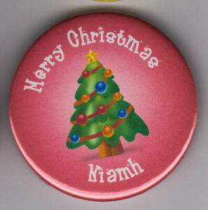Set of personalised Christmas party name badges - nice cracker or stocking gift