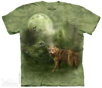 New The Mountain Forest Spirit Wolf T Shirt