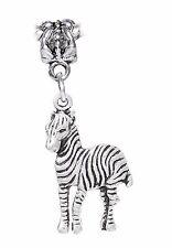 Zebra Zoo Africa Safari Wild Animal Park Dangle Charm for European Bracelets