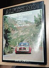 Alfissimo Book by David Owen Alfa Romeo 1900 Giulietta Giulia preowned in VGC