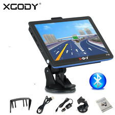 XGODY 7'' Sat Nav Truck Car HGV GPS Navigation Navigator In-Car Bluetooth 718