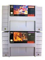 Disney's Aladdin & The Lion King for Super Nintendo SNES Authentic Game Lot!
