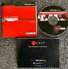 Verizon Motorola MotoRazr V3m V Cast User Reference Guide Booklet with Cd