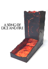 Fire Lava Print Dice Tower, Warhammer, Role Playing, Infinity, Board games, 40k