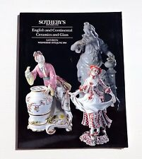 SOTHEBY'S CATALOGUE VENTE LONDON 1994 ENGLISH AND CONTINENTAL CERAMICS AND GLASS