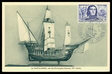FRANCE MK 1959 VILLEHARDOUIN SCHIFFE SHIP SANTA-MARIA MAXIMUM CARD MC CM h0364