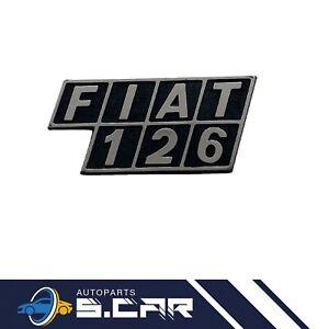 FREGIO SIGLA SCRITTA POSTERIORE FIAT 126 IN PLASTICA con 2 perni posteriori