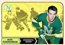 Custom made Topps 1968-69 Minnesota North Stars Alex Fitzpatrick hockey card  .