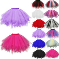 Women Pleated Gauze Short Mini Skirt Adult Ballet Tutu Swing Dancing Skirt Dress