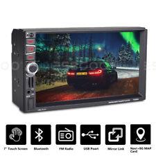 "2 DIN 7"" Car Stereo Bluetooth Audio GPS NAVI Navigation Radio Touchscreen EU Map"