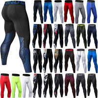 Mens Compression Long Pants Base Layer Leggings Sports Fitness Trousers Jogging