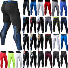 Men Gym Compression Skinny Tight Base Layer Sport Leggings Cycling Pant Trouser