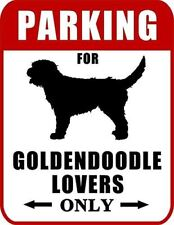 Parking for Goldendoodle Lovers Only (Red Ver.) Laminated Dog Sign