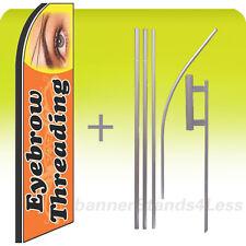 Swooper Feather Flutter Banner Sign Flag 15' Kit - EYEBROW THREADING q