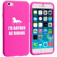 For iPhone 4 5 5s 5c 6 6s Silicone Soft Rubber Case Cover Rather Be Riding Horse