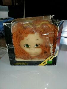 Vintage 1985 Foster Children Auburn/red hair Designer Doll Head With Certificate