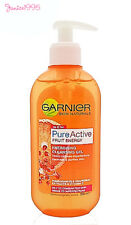3 X Garnier 200ml Pure Active Fruit Energy Cleansing GEL
