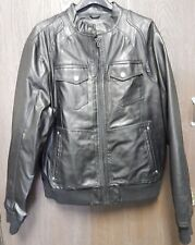 Whispering Smith Vintage Black Leather Biker Jacket Mens Size XXL London/NY Rare