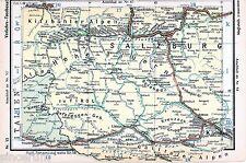 Zell am See Spittal Lienz 1935 kl. orig. Eisenbahn-Karte Krimml Pinzgau Silian