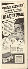 1950's Viintage ad for Palmolive Brushless shaving cream Art Cartoon    (120917)