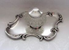 Antique American Sterling Silver Inkwell Art Nouveau Circa 1890