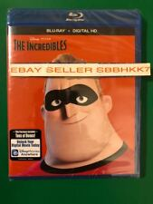 Disney Pixar The Incredibles Blu-Ray + Digital HD Brand New Free Shipping