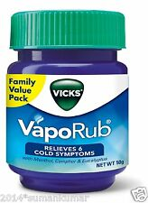 Vicks Vaporub Ointment Vaporizing blocked nose cough Nasal headache Relief 50gm