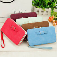 High Quality Soft Leather Long Vintage Clutch Women Wallet Purse Bag For Ladies
