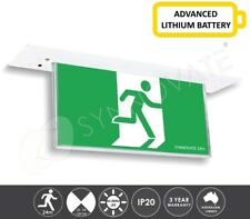 LITHIUM LED Blade Emergency Exit Sign Light Ceiling Recessed Mount 24m ULTRA