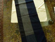 $350 FENDI Sciarpa Jacquard Blue/Gray Wool/Angora Blend FF Logo Scarf FXS124 NWT