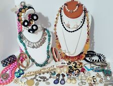 Large Estate Vintage Costume Jewelry Lot. Clip on Earrings, Brooches, Rings, Etc