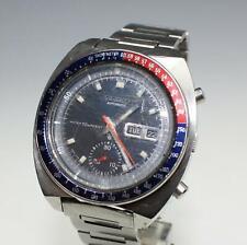 Vintage Seiko Pogue 6139-6005 Pepsi Bezel Stainless Automatic Chronograph Watch