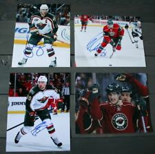 Lot of 4 Autographed Minnesota Wild 8x10 Photos  Brunette Johnson Setoguchy