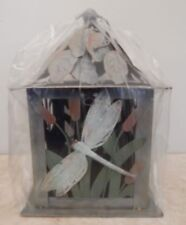 "New Tranquil Garden Dragonfly Lantern #27202 Stands 10"" Tall In Original Box"