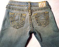 EUC - RRP $47- Womens True Religion Brand Stretch 'JOHNNY SUPER T' Jeans Size 25