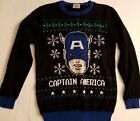 Marvel Captain America Holiday  Ugly Christmas Kids Knitted Sweater XL (16)