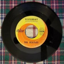 Vintage 45 RPM The Beatles Yesterday & Act Naturally Capitol 1965 5498