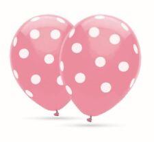 8 Ballons Polka Dots Rosa Ballons mit weißen Punkten 30cm Durchm. heliumgeeignet
