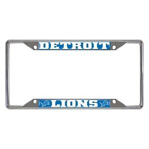 Fanmats NFL Detroit Lions Chrome Metal License Plate Frame Delivery 2-4 Days