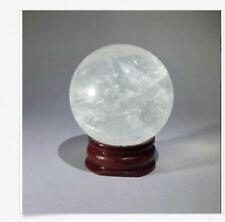 35-40 mm + Stand NATURAL/CLEAR QUARTZ CRYSTAL SPHERE BALL HEALING GEMSTONE