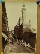 antique old PHOTO LEROUX  Arab Muslim AFRICA Constantine Mosque ALGERIA 1890s
