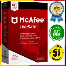 McAfee Livesafe 2020 🔰 5 Devices ✔ 5 Years Protection Genuine License 🔥