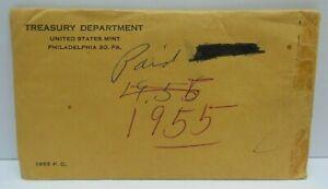 1955 US Proof Set - Original Brown Envelope - United States Treasury Dept. G300